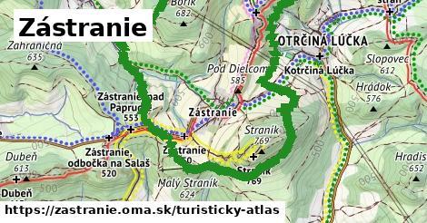 ikona Turistická mapa turisticky-atlas v zastranie