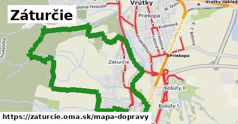 ikona Záturčie: 10,3km trás mapa-dopravy v zaturcie