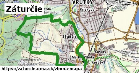 ikona Záturčie: 441m trás zimna-mapa  zaturcie