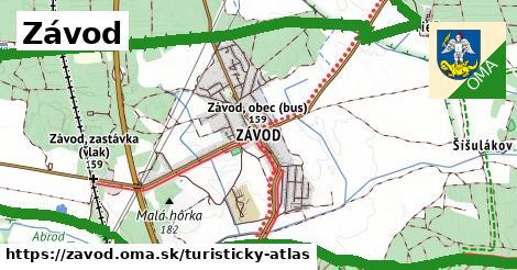 ikona Turistická mapa turisticky-atlas  zavod