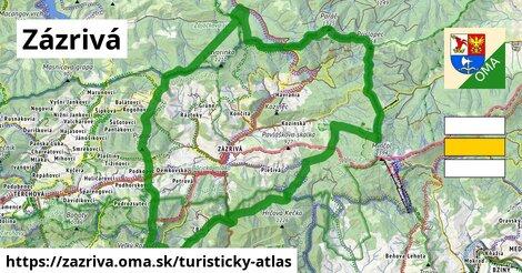 ikona Zázrivá: 64km trás turisticky-atlas  zazriva