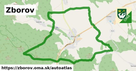 ikona Mapa autoatlas  zborov