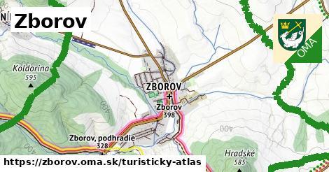 ikona Zborov: 31km trás turisticky-atlas  zborov