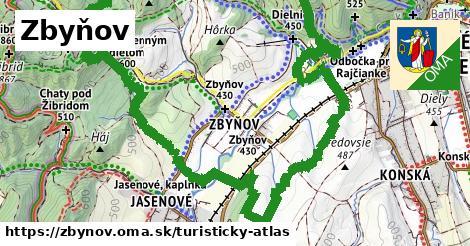 ikona Turistická mapa turisticky-atlas  zbynov