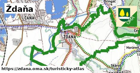 ikona Turistická mapa turisticky-atlas v zdana