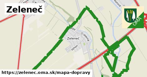 ikona Zeleneč: 83km trás mapa-dopravy  zelenec