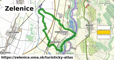 ikona Turistická mapa turisticky-atlas  zelenice