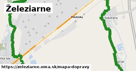 ikona Železiarne: 21km trás mapa-dopravy  zeleziarne