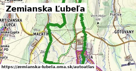 ikona Mapa autoatlas  zemianska-lubela
