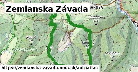 ikona Mapa autoatlas  zemianska-zavada