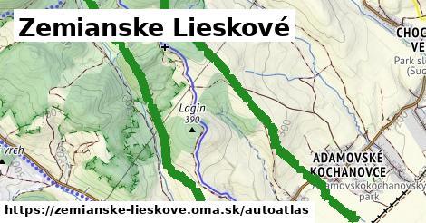 ikona Mapa autoatlas  zemianske-lieskove