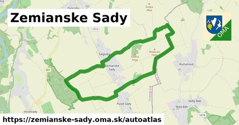 ikona Mapa autoatlas  zemianske-sady