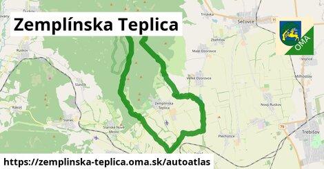 ikona Mapa autoatlas  zemplinska-teplica