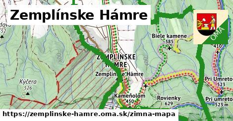 ikona Zemplínske Hámre: 4,5km trás zimna-mapa v zemplinske-hamre