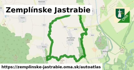 ikona Mapa autoatlas  zemplinske-jastrabie
