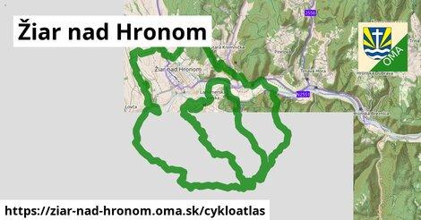 ikona Žiar nad Hronom: 7,8km trás cykloatlas  ziar-nad-hronom
