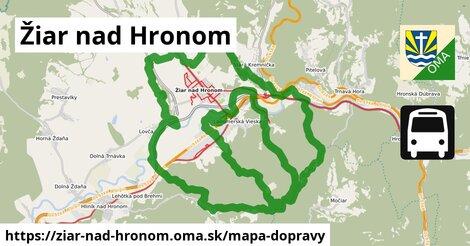 ikona Žiar nad Hronom: 47km trás mapa-dopravy  ziar-nad-hronom
