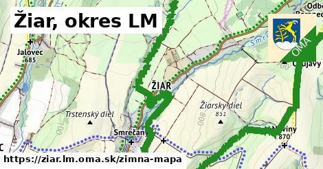 ikona Žiar, okres LM: 6,6km trás zimna-mapa  ziar.lm