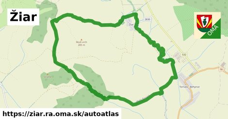 ikona Mapa autoatlas  ziar.ra