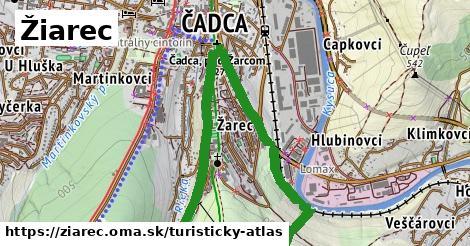 ikona Žiarec: 1,29km trás turisticky-atlas  ziarec