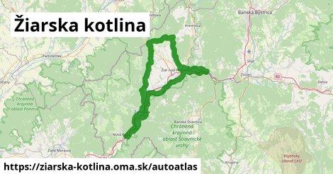 ikona Mapa autoatlas  ziarska-kotlina