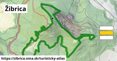 ikona Žibrica: 1,07km trás turisticky-atlas  zibrica
