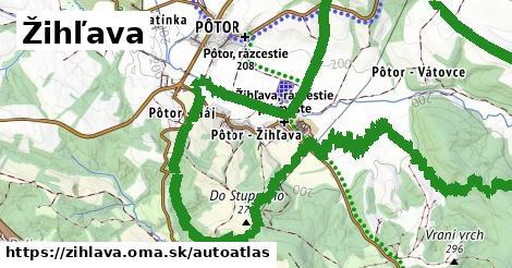 ikona Mapa autoatlas  zihlava