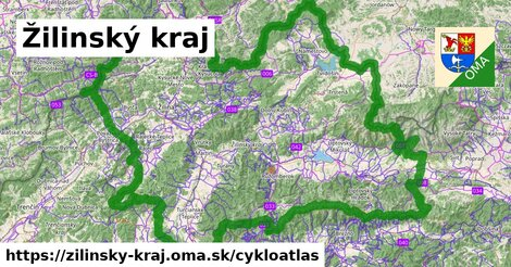 ikona Žilinský kraj: 2496km trás cykloatlas  zilinsky-kraj