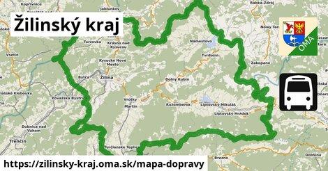 ikona Žilinský kraj: 1105km trás mapa-dopravy  zilinsky-kraj
