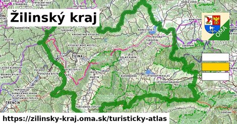 ikona Žilinský kraj: 3909km trás turisticky-atlas  zilinsky-kraj