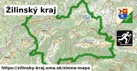 ikona Žilinský kraj: 466km trás zimna-mapa  zilinsky-kraj