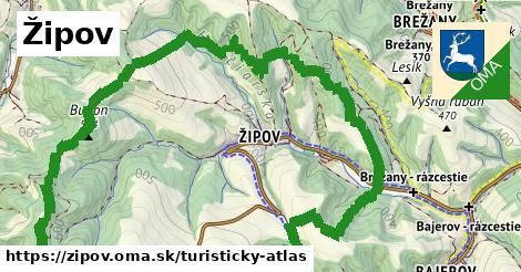 ikona Turistická mapa turisticky-atlas  zipov