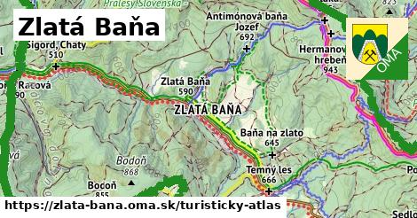 ikona Turistická mapa turisticky-atlas  zlata-bana