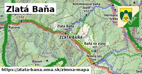 ikona Zlatá Baňa: 30km trás zimna-mapa  zlata-bana