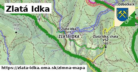 ikona Zlatá Idka: 20km trás zimna-mapa v zlata-idka