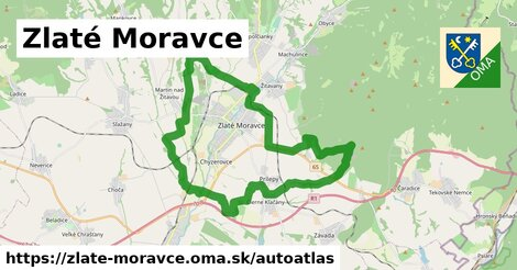 ikona Mapa autoatlas  zlate-moravce