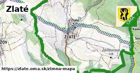 ikona Zimná mapa zimna-mapa v zlate