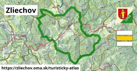 ikona Zliechov: 27km trás turisticky-atlas  zliechov