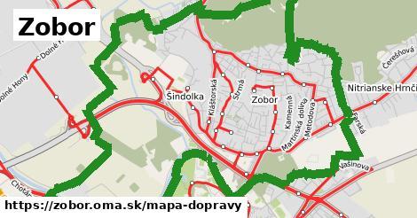 ikona Zobor: 120km trás mapa-dopravy  zobor