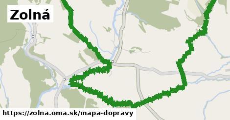 ikona Zolná: 0m trás mapa-dopravy v zolna