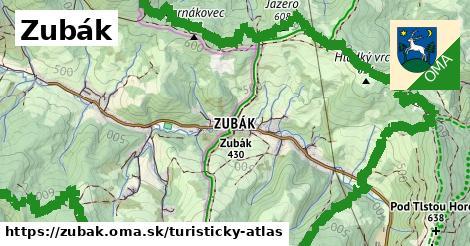 ikona Turistická mapa turisticky-atlas  zubak