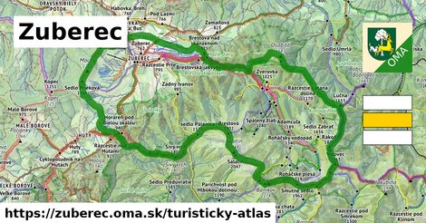 ikona Zuberec: 89km trás turisticky-atlas  zuberec