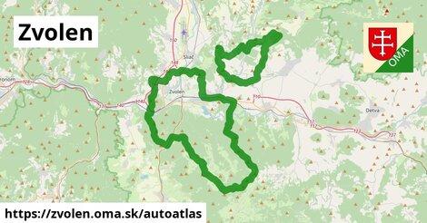ikona Mapa autoatlas  zvolen
