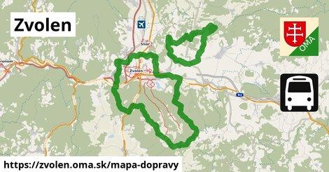 ikona Zvolen: 199km trás mapa-dopravy  zvolen
