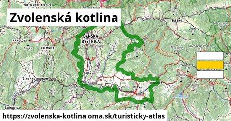 ikona Turistická mapa turisticky-atlas  zvolenska-kotlina