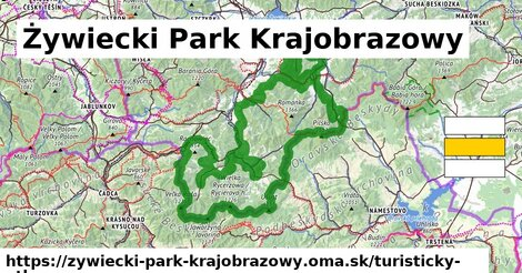 ikona Turistická mapa turisticky-atlas  zywiecki-park-krajobrazowy