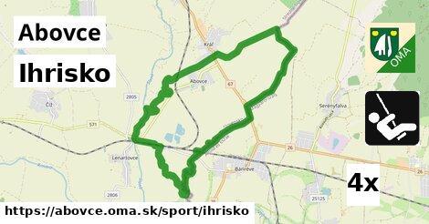 ihrisko v Abovce