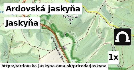 ilustračný obrázok k Jaskyňa, Ardovská jaskyňa