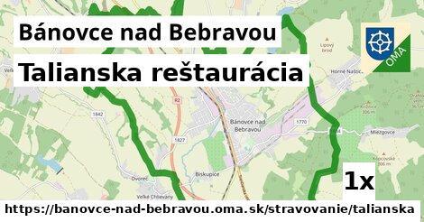 Talianska reštaurácia, Bánovce nad Bebravou