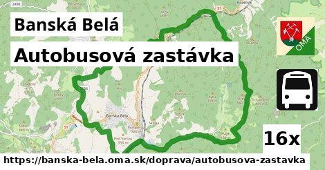 autobusová zastávka v Banská Belá